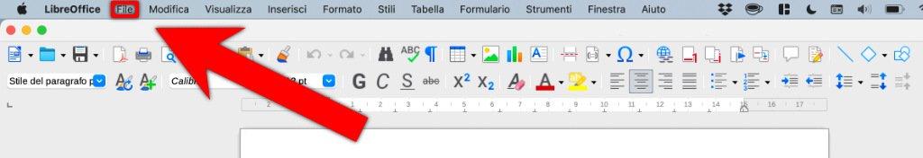 come creare pdf a su libreoffice