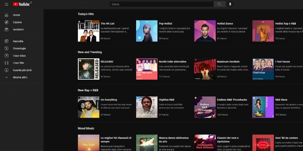 Migliori app per sentire musica sul pc YouTube